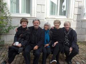 Rosa M Hessling, Reinhard Roy, Linde Hollinger, Renate Bender in Ladenburg 2015